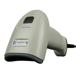 White wired barcode reader...